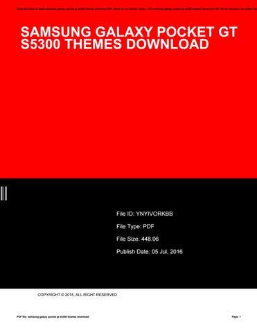 Samsung galaxy pocket gt s5300 themes download by ekka23sapta - issuu