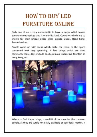 How To Buy Led Furniture Online Each One Of Us Is Very Enthusiastic To Have  A DĂŠcor Which Leaves Everyone Mesmerised And Is One Of Its Kind.