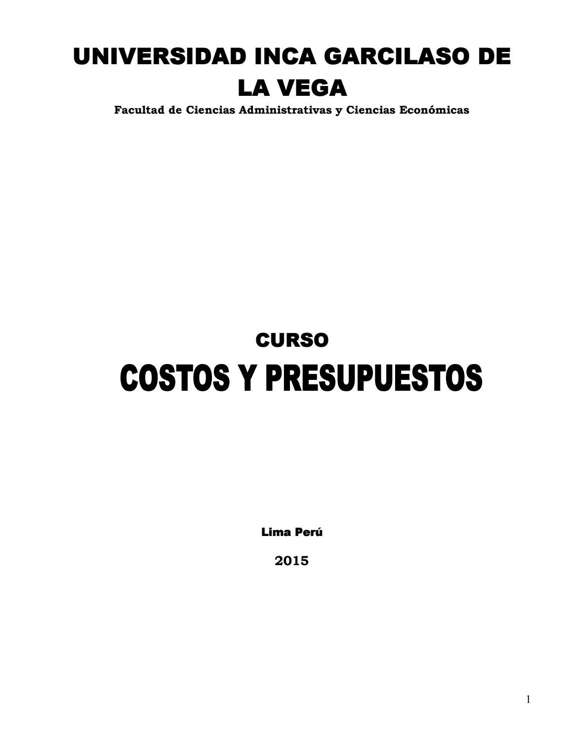 Libro costos by napase - issuu