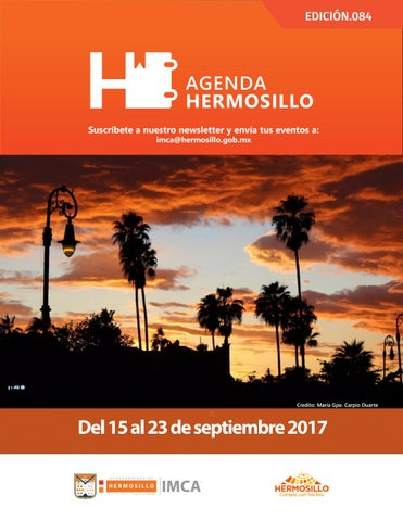 "Cover of ""Agenda Hermosillo 15 sep 2017"""