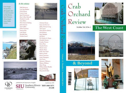 d268eb04a63 Crab Orchard Review Vol 19 No 2 S F 2014 by Crab Orchard Review - issuu
