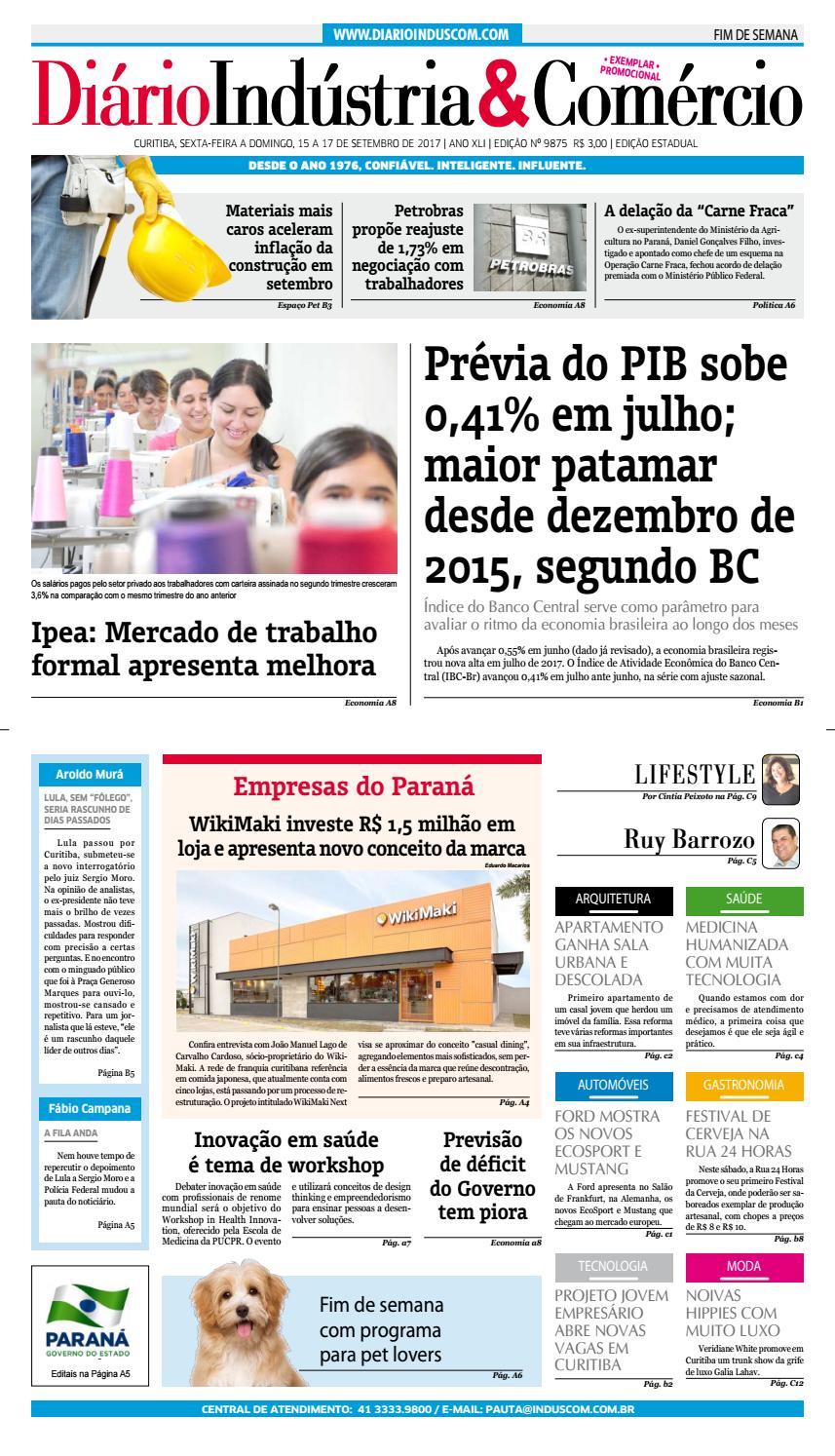 Diário Indústria Comércio - 15 de setembro de 2017 by Diário Indústria    Comércio - issuu 21d6df9bb5