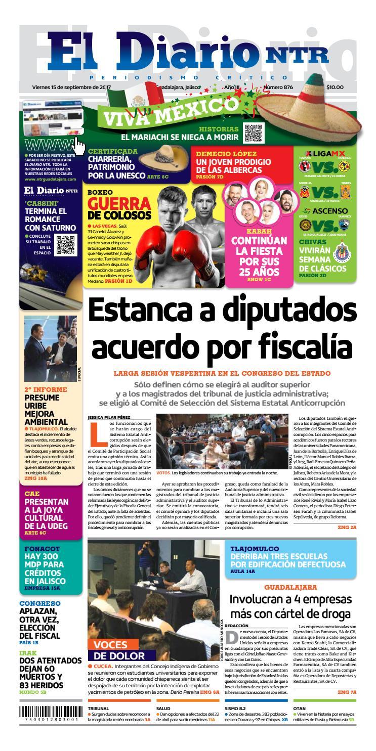 El Diario NTR 876 by NTR Guadalajara - issuu 4634877fb59