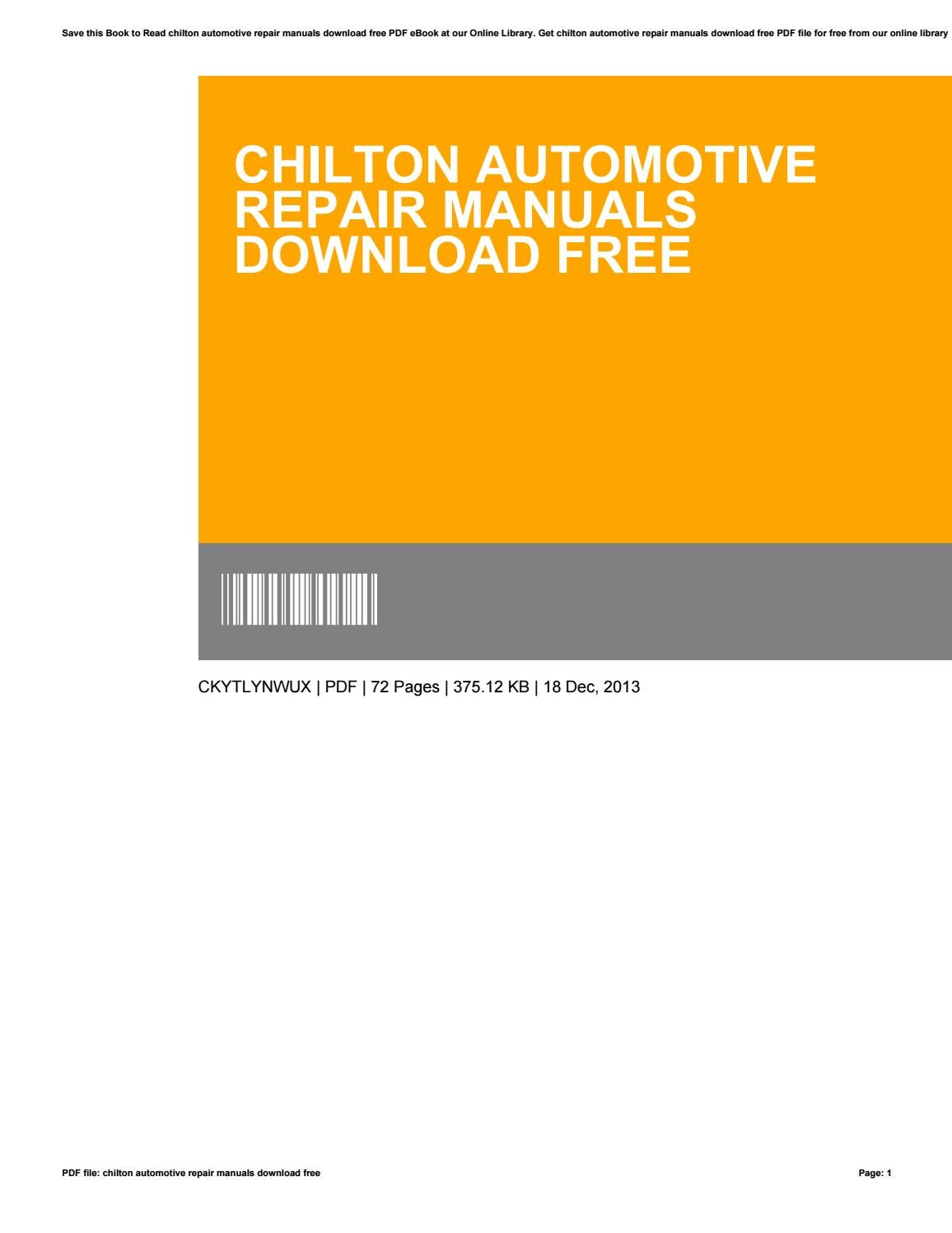 Chilton automotive repair manuals download free by sapta21agustina - issuu