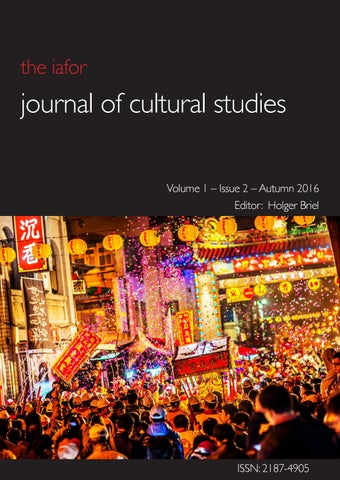 Iafor Journal Of Cultural Studies Volume 1 Issue 2 By Iafor Issuu