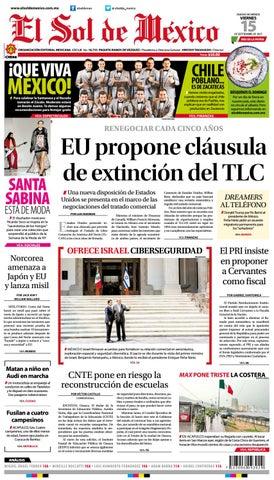 Edición Impresa 15 septiembre 2017 by El Sol de México - issuu 5f687d7e6eba