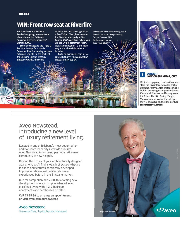Brisbane News Magazine September 20-26, 2017  ISSUE 1146 by