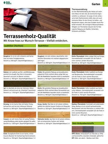 Garten Thermoveredelung Ist Eine Wärmebehandlung Des Holzes Auf Natürliche  Weise Mit Dem Ziel, Die Technischen Eigenschaften Zu Verbessern. So Sorgt Z.