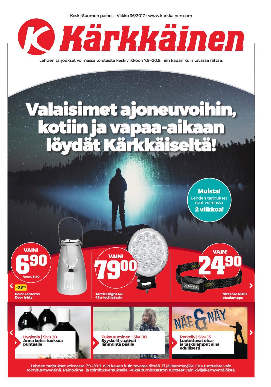 best loved 398a7 b5c0a Kärkkäisen mainos (36 2017) (K-S) by Tavaratalo J. Kärkkäinen Oy - issuu