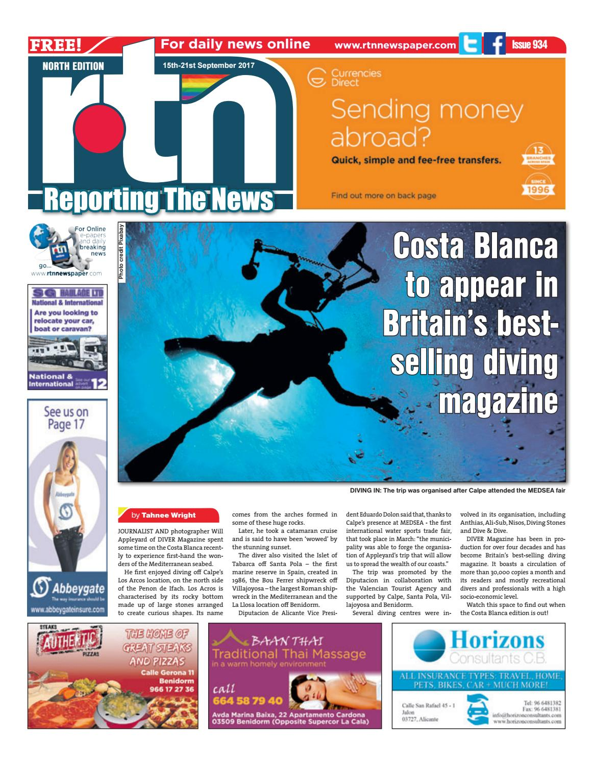 RTN Newspaper - Costa Blanca North 15 - 21 September 2017 Issue 934 ...