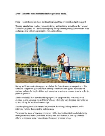 romantic married couple stories