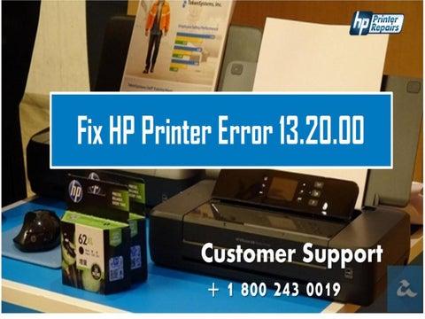 How to Fix HP Printer Error 13 20 00? 1800-243-0019 by Printer
