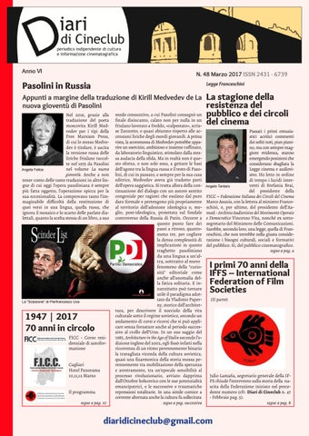 Diari di Cineclub - Numero 48 (Marzo 2017) by Band Apart - issuu d8fc582b735