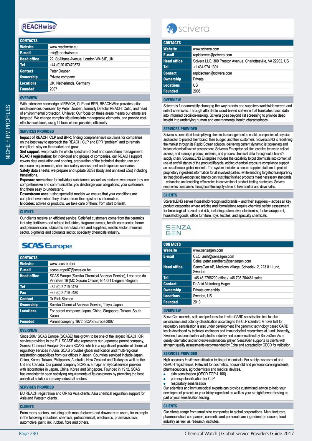 Global Service Providers Guide 2017 by Chemical Watch - issuu