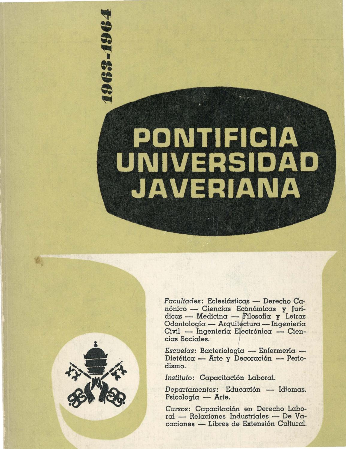 Catálogo puj 1963 1964 by Archivo Histórico Javeriano - issuu