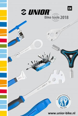 Unior bike tools catalogue en 2018 by Erik van Leeuwen - issuu