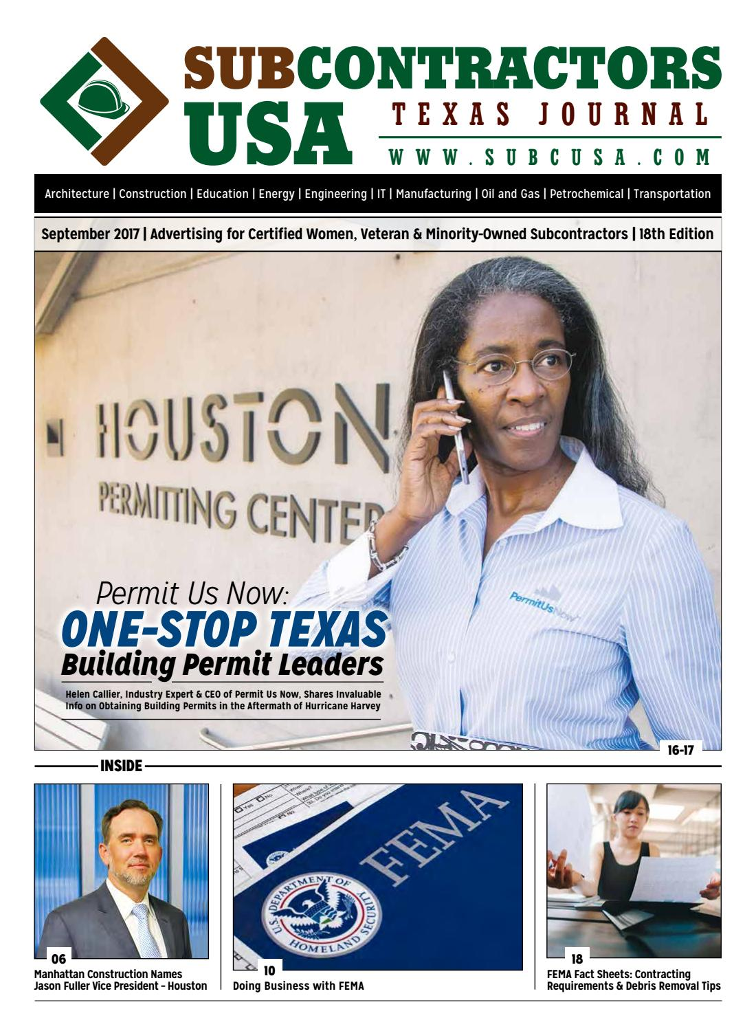 Subcontractors usa journal 18 by d issuu for Finding subcontractors