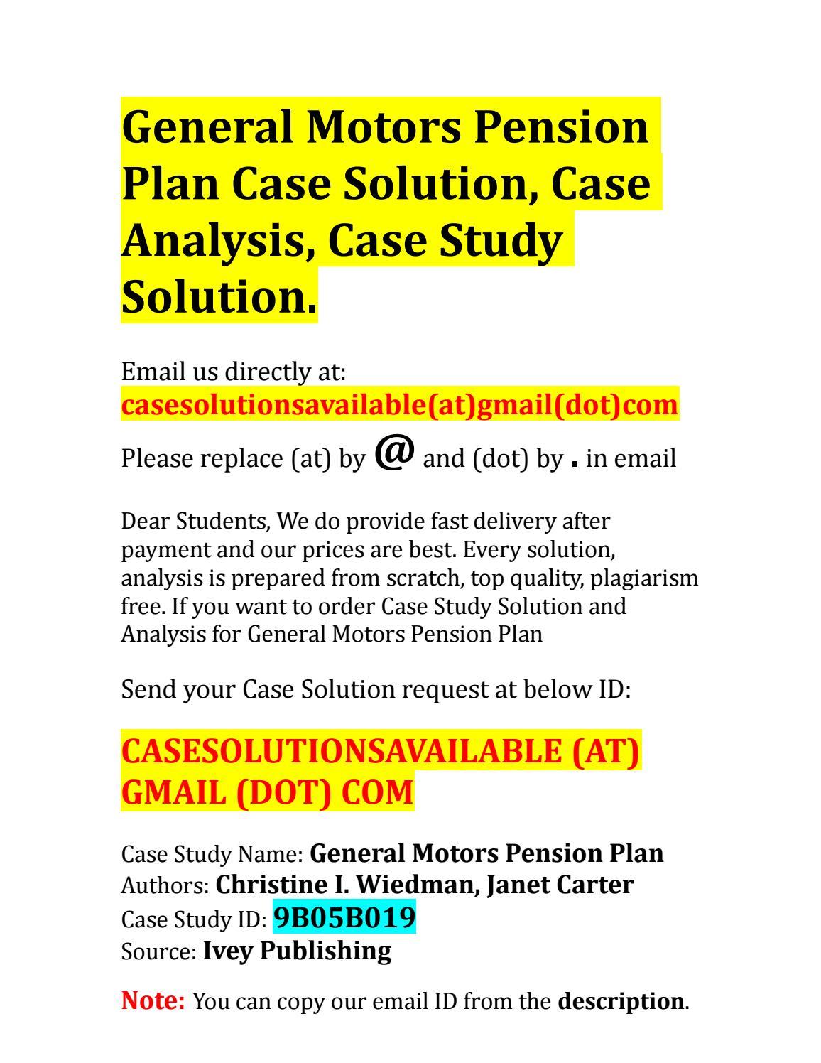 General motors case study essay