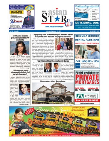 The Asian Star September 16 2017 by The Asian Star Newspaper