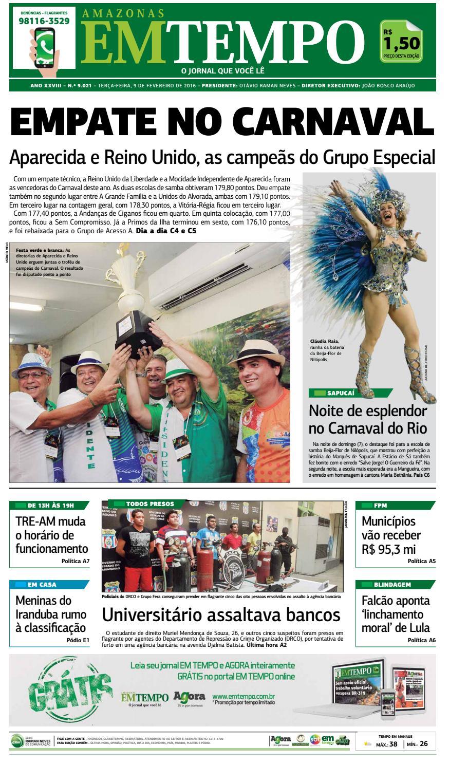56f70b368 Jornal Amazonas em Tempo Nº 9021 by Portal Academia do Samba - issuu