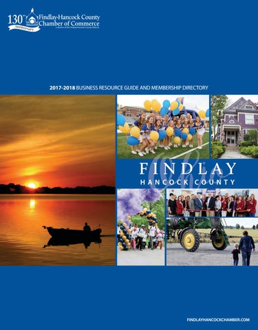Findlay Hancock County Chamber Guide 2017 2018 By Town Square