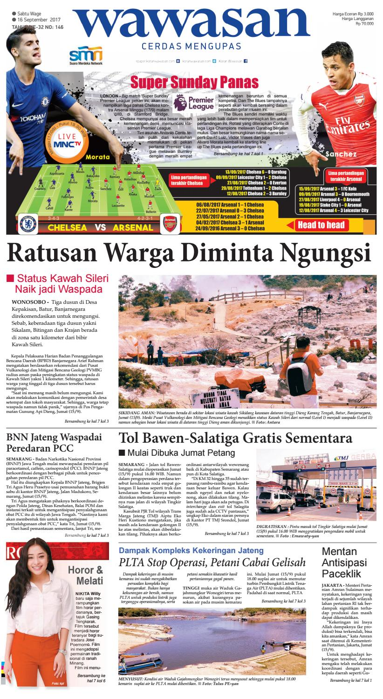 Wawasan 16 September 2017 By Koran Pagi Issuu Rkb Tegal Madu Mongso