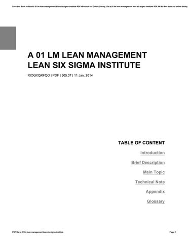 Six Sigma Pdf File