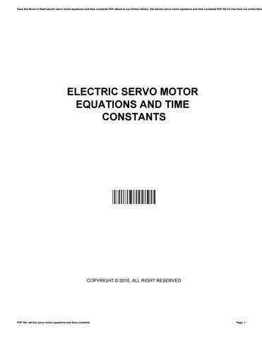 Servo Motor Pdf