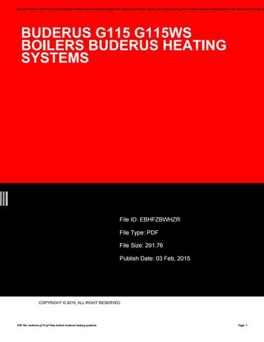 Buderus g115 g115ws boilers buderus heating systems by Darren Holmes ...