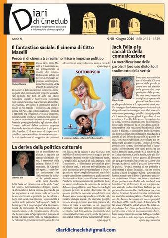 Diari di Cineclub - Numero 40 (Giugno 2016) by Band Apart - issuu 8e99d39e5e02