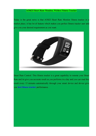 AOKII Heart Rate Monitor, Wirless Fitness Tracker by SMART