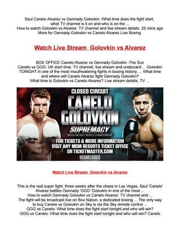 Watch live stream golovkin vs alvarez Hbo PPv Boxing by livestream