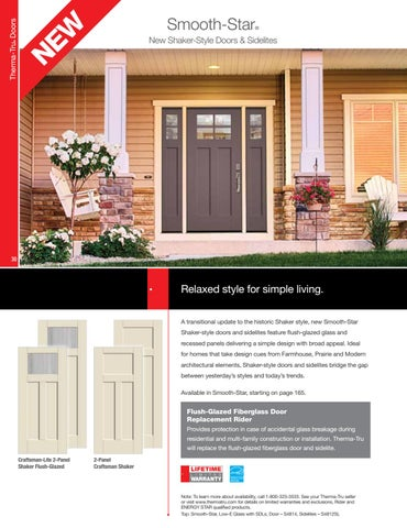Page 30. NE W. ®. Therma Tru Doors. Smooth Star