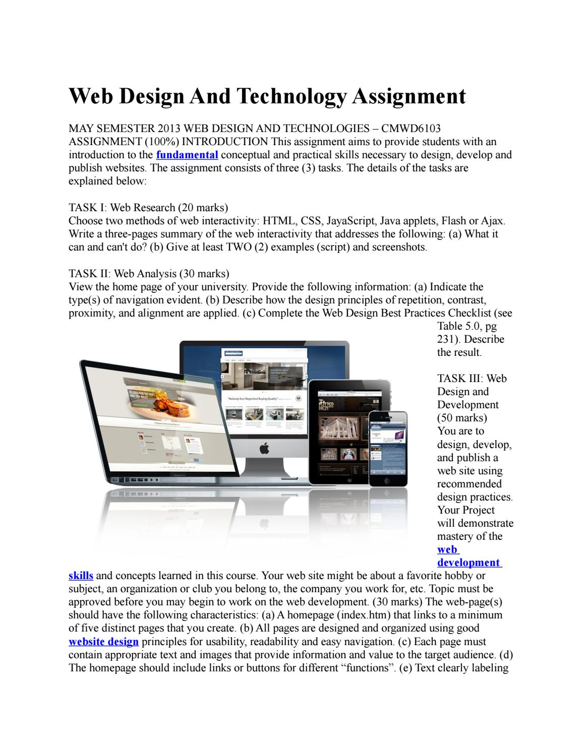Web Design And Technology Assignment Cheapassignmenthelp Com Au By Cheap Assignment Help Issuu