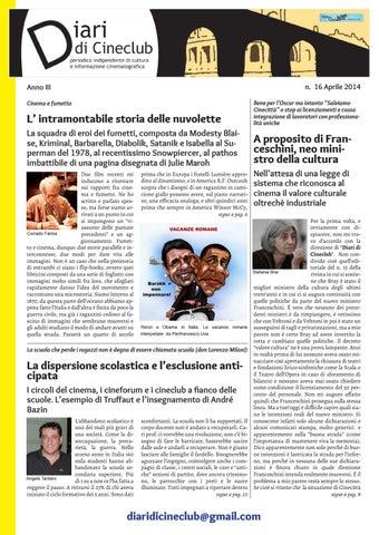 1bb4e71dbc510 Diari di Cineclub - Numero 16 (Aprile 2014) by Band Apart - issuu