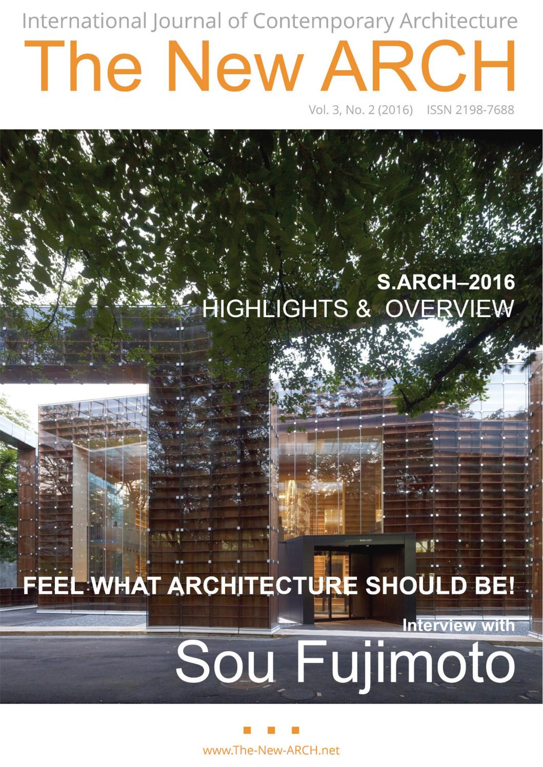 The New ARCH Vol3 No2 (2016) by S ARCH - issuu
