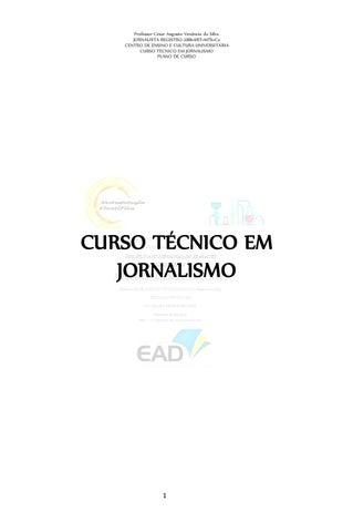 Livro plano de curso jornalismo validação dos títulos no exterior by