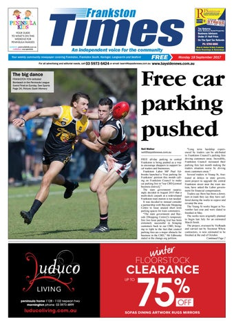 18 september 2017 by mornington peninsula news group issuu page 1 frankston reheart Image collections