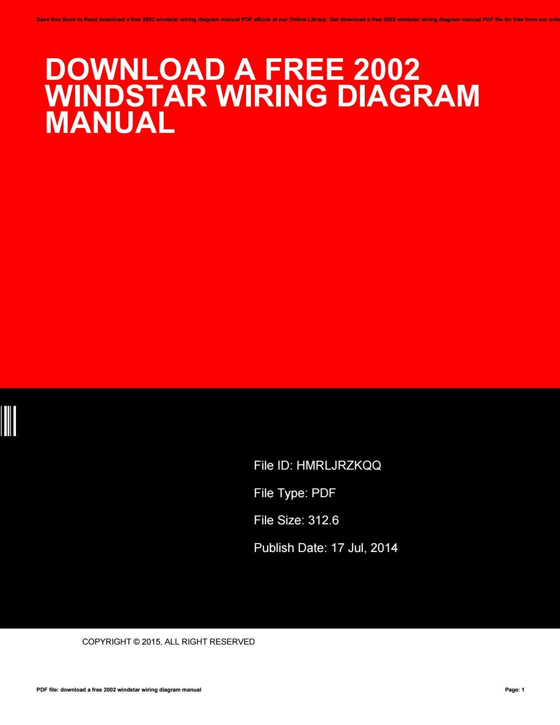 Download A Free 2002 Windstar Wiring Diagram Manual By Jay