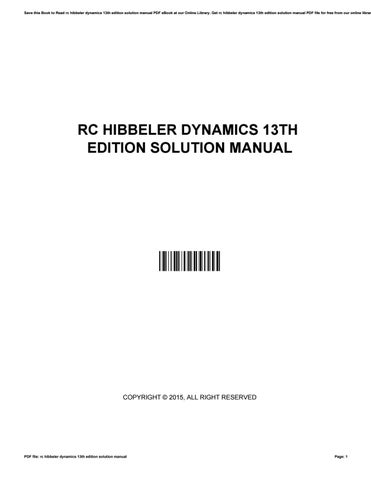 rc hibbeler dynamics 13th edition solution manual by jason issuu rh issuu com dynamics solution manual hibbeler 13th edition pdf Engineering Mechanics Hibbeler