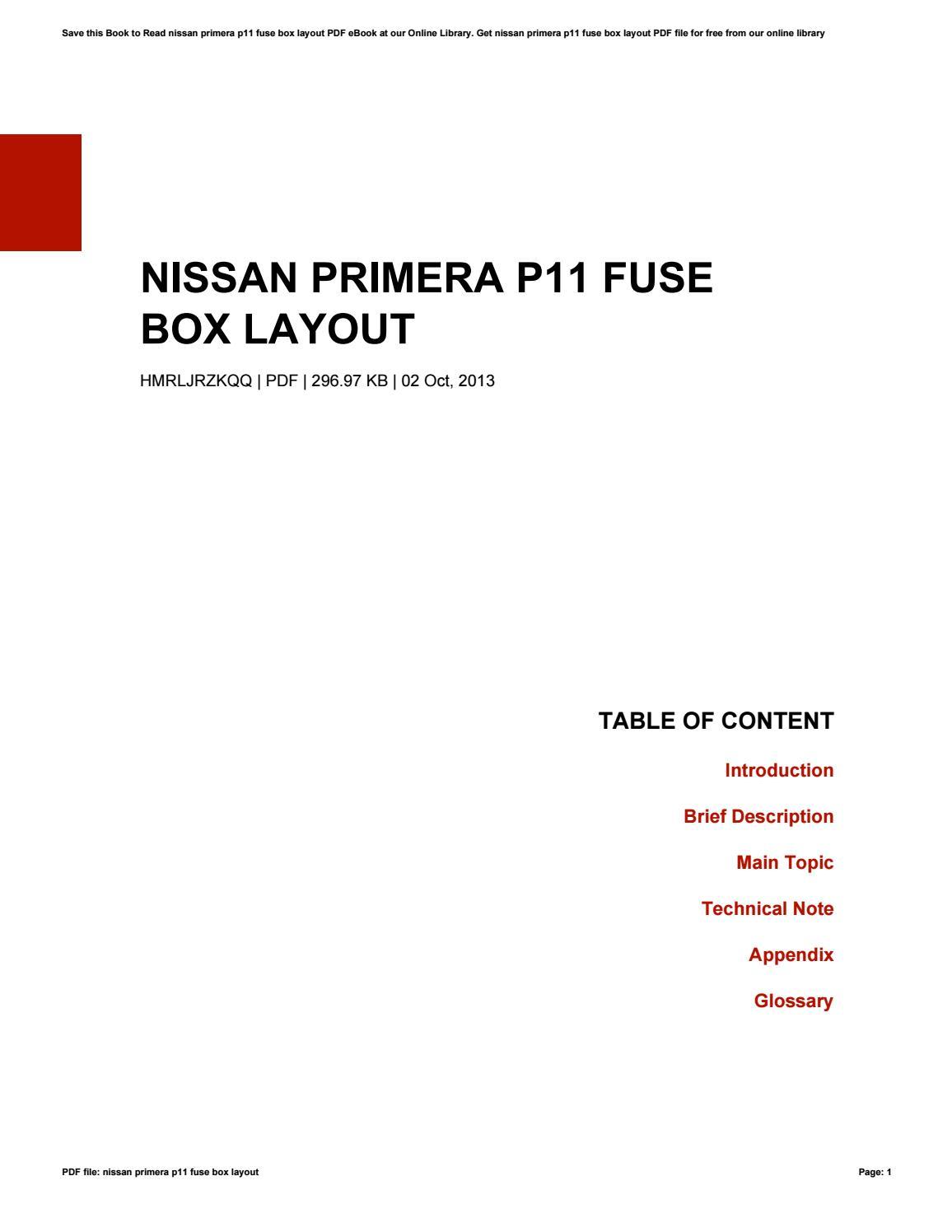 nissan primera p11 fuse box layout by linda