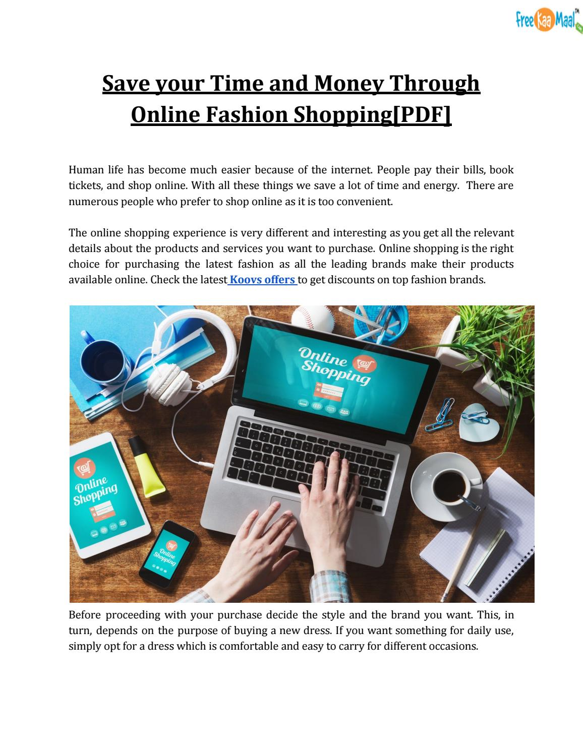 best service f7a94 31d0a Save your Time and Money Through Online Fashion Shopping[PDF ...