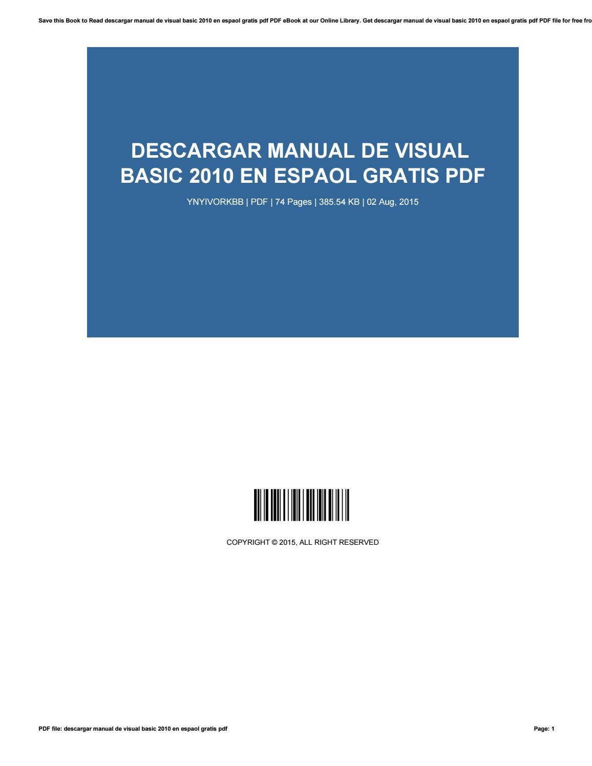 Visual Basic 2010 Pdf