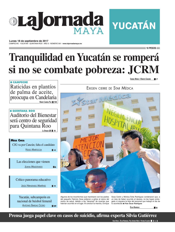 La Jornada Maya · 18 de septiembre 21ea72d76f3
