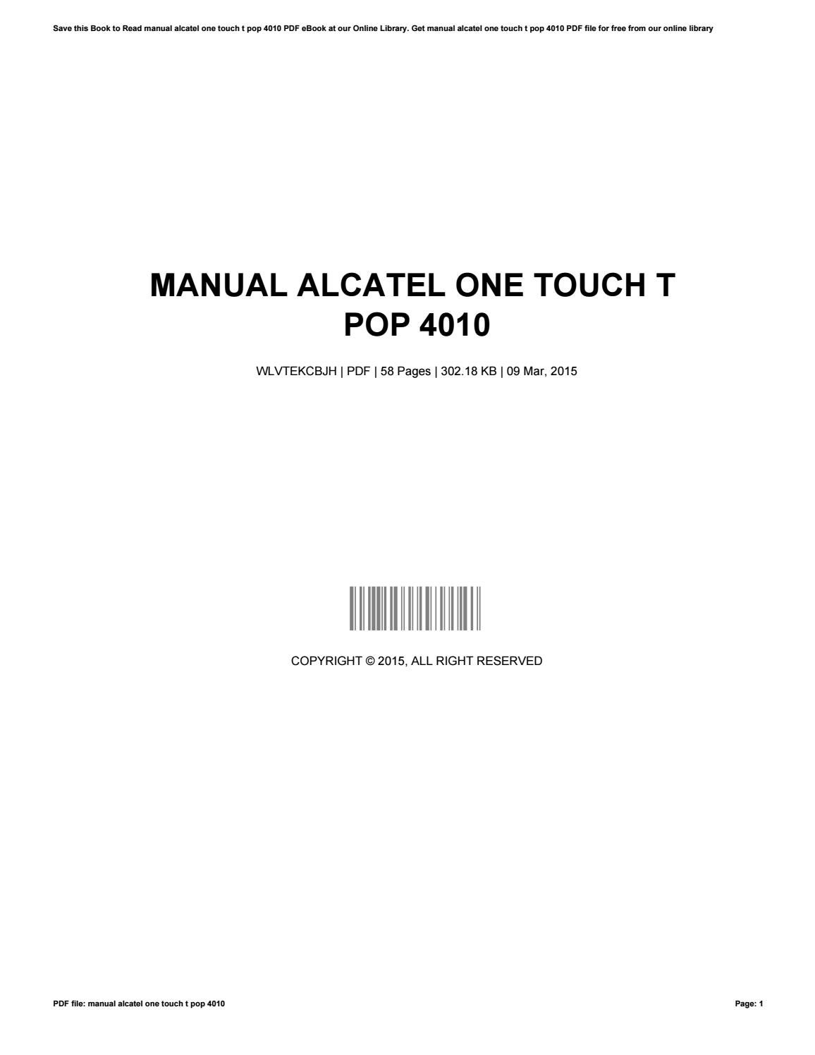Array - manual alcatel one touch t pop 4010 by michelle issuu rh issuu ...