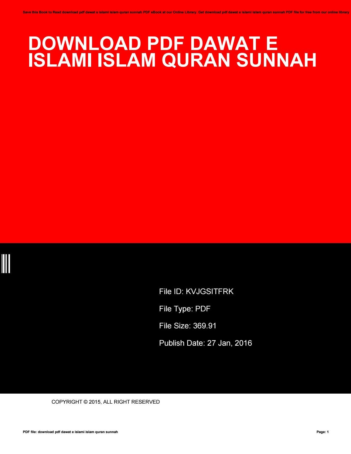 Dawat E Islami Books Pdf