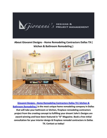 Giovanni Designs Fireplace Remodel Contractors In Dallas TX By Enchanting Bathroom Remodeling Contractors Concept