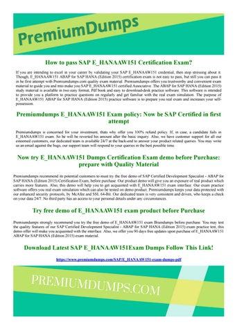 Certified Development Specialist - ABAP for SAP HANA