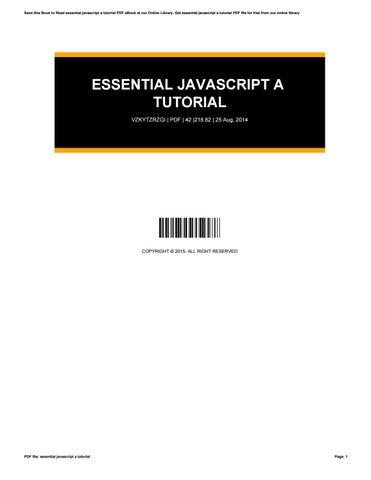 Pdf Javascript Tutorial
