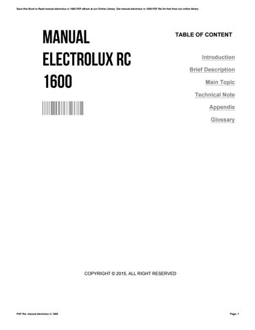 manual electrolux rc 1600 how to and user guide instructions u2022 rh taxibermuda co dometic combicool rc 1600 egp manual Dometic Air Conditioner